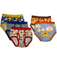 Boys 4-10 Up-Later Food-Themed 5-Pack Briefs