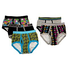 Boys 4-10 Up-Late Digital Video Game 5-Pack Briefs