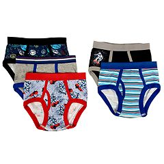 Boys 4-10 Up-Late Space 5-Pack Briefs