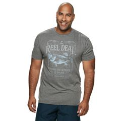 Big & Tall Cotton Links Fishing Graphic Tee