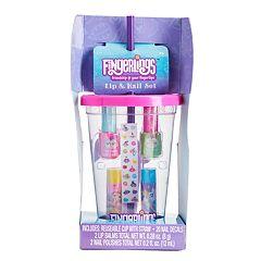 Girls Fingerlings Lip & Nail Tumbler Set