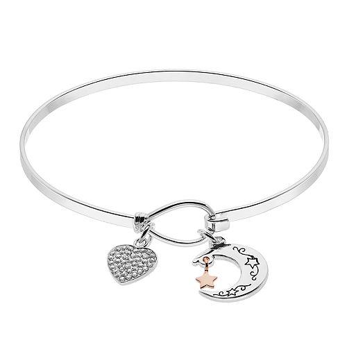 Brilliance Moon & Heart Bracelet with Swarovski Crystals