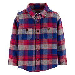 Toddler Boy OshKosh B'gosh® Flannel Plaid Button Down Shirt