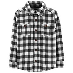 Toddler Boy OshKosh B'gosh® Flannel Plaid Button Down Shirt