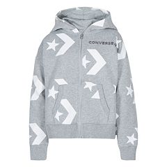 Girls 7-16 Converse Star Chevron Print Full Zip Hoodie