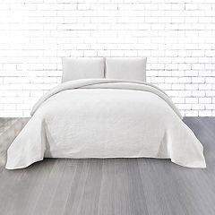 CosmoLiving by Cosmopolitan Vintage Wash 3-piece Circles Cotton Quilt Set