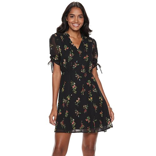 Women's Sharagano Floral Shirt Dress
