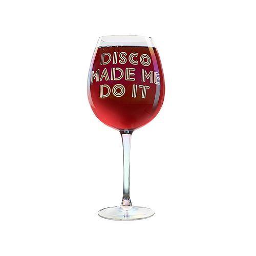 DCI XL Wine Glass: Disco Made Me Do It