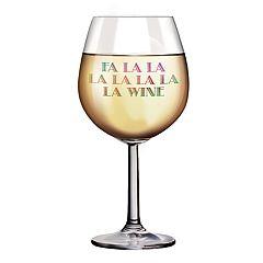 DCI XL Wine Glass: Fa La La La Wine