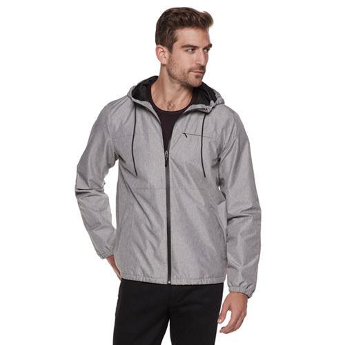 Men's Marc Anthony Slim-Fit Textured Hooded Rain Jacket