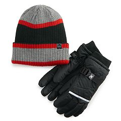 Boys 4-20 ZeroXposur Shield Hat & Gloves Set
