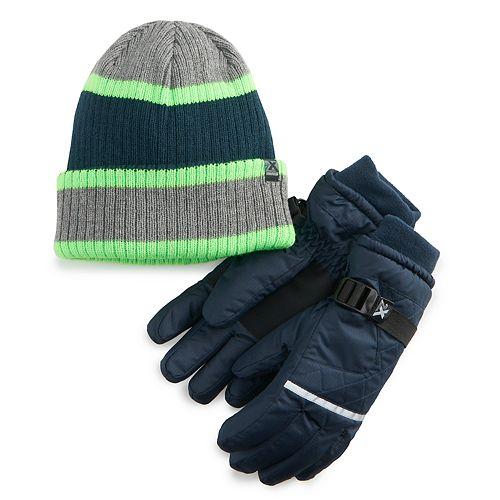 Boys 4-20 ZeroXposur Shield Hat & Gloves Set