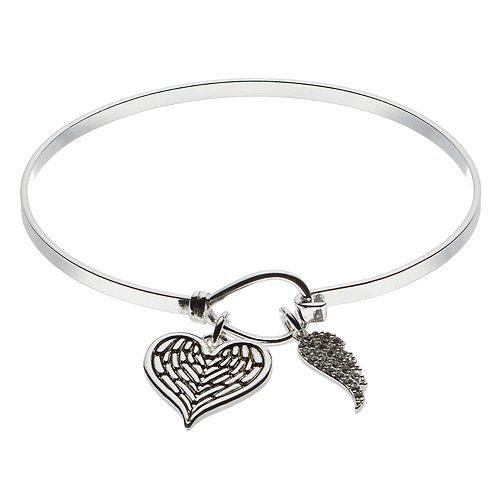 Brilliance Heart & Wing Bracelet with Swarovski Crystals