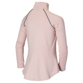 Girls 7-16 New Balance Quarter Zip Long Sleeve Fashion Performance Top
