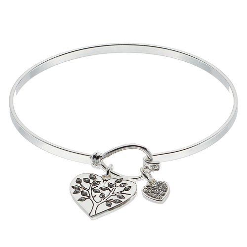Brilliance Heart Tree Bracelet with Swarovski Crystals