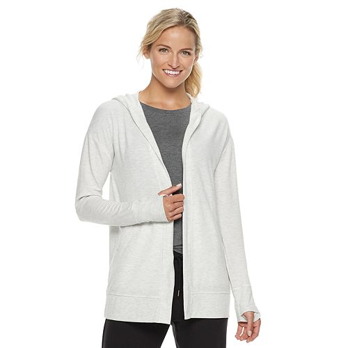 Petite Tek Gear® Hooded Wrap Cardigan