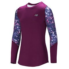 Girls 7-16 New Balance Long Sleeve Pattern Detail Performance Top
