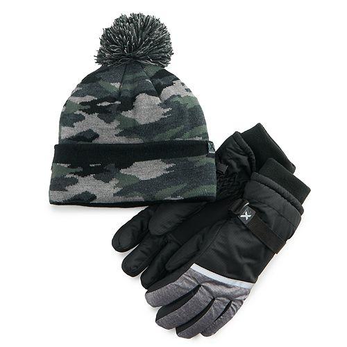 Boys 4-20 ZeroXposur Hat & Gloves Set