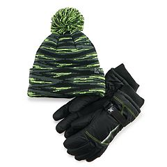 Boys 4-20 ZeroXposur Hat & Gloves Set
