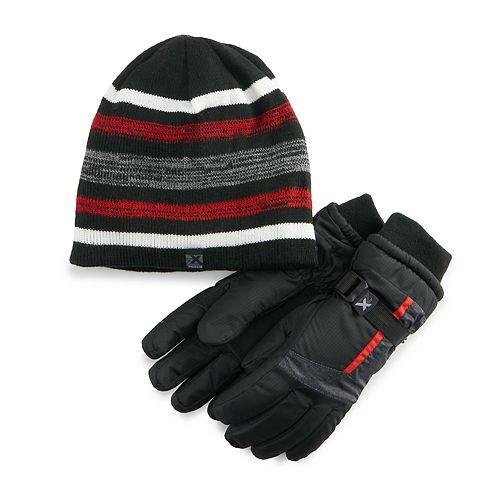 Boys 4-20 ZeroXposur Steel Hat & Gloves Set