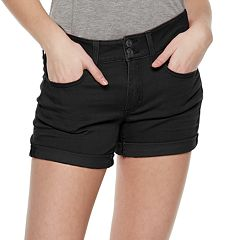 Juniors' SO® Low-Rise Roll Cuff Shorts