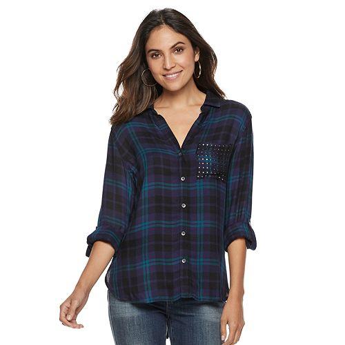 Women's Rock & Republic® Studded Pocket Shirt