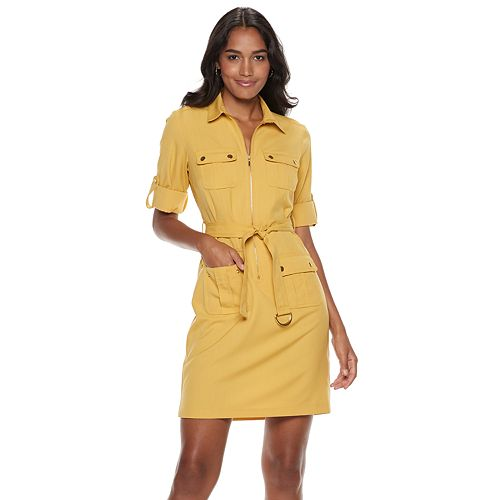 Women's Sharagano Zip-Front Shirt Dress