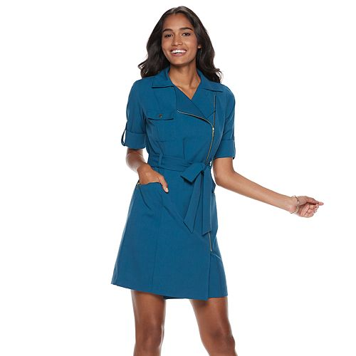 Women's Sharagano Asymmetrical Shirt Dress