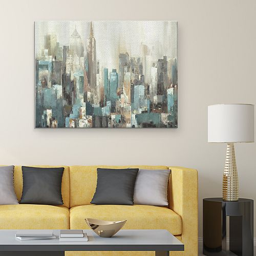 Domain Abstract Cityscape Canvas Wall Art