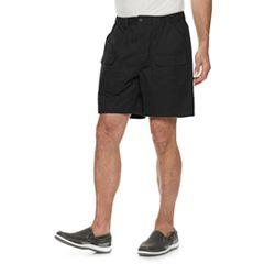 Men's Croft & Barrow® Classic-Fit Side-Elastic 7.5-inch Cargo Shorts
