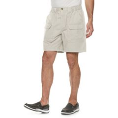 Men's Croft & Barrow® Classic-Fit Side-Elastic 7.5-inch Cargo Shorts