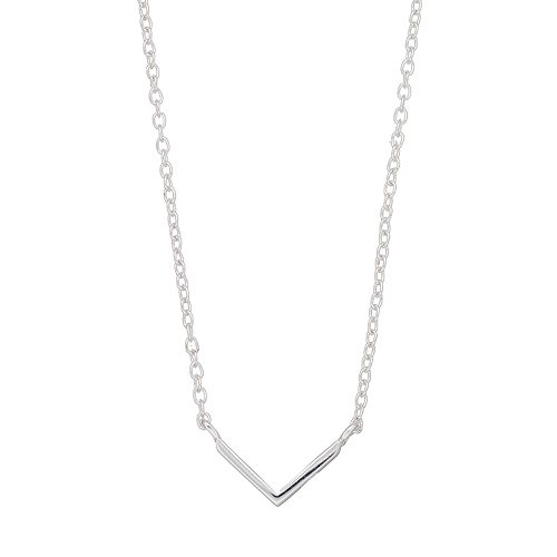 love this lifeSterling Silver V Necklace