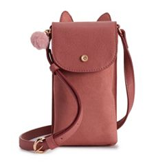 LC Lauren Conrad Cat Phone Crossbody Bag