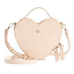 LC Lauren Conrad Heart Crossbody Bag