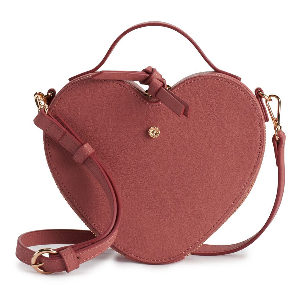 LC Lauren Conrad Heart Crossbody Bag