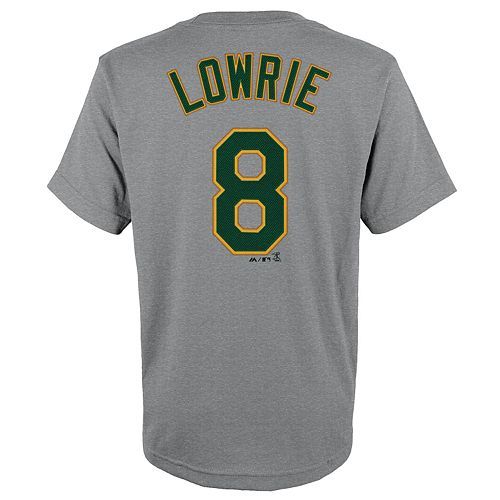 Boys 4-18 Oakland Athletics Jed Lowrie Name & Number Tee