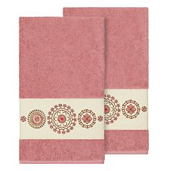 Linum Home Textiles Turkish Cotton Isabelle Embellished Bath Towel Set