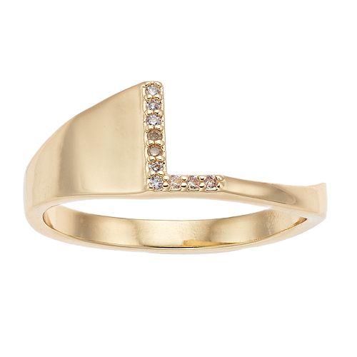 LC Lauren Conrad Initial Cutout Ring