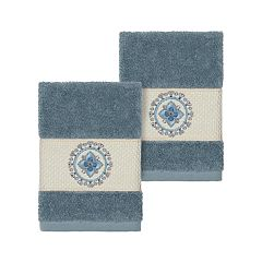 Linum Home Textiles Turkish Cotton Isabelle Embellished Washcloth Set