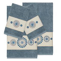 Linum Home Textiles 4-piece Turkish Cotton Isabelle Embellished Towel Set