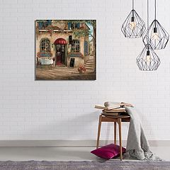 New View Centro Pizza Cafe Canvas Wall Art