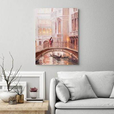 New View Perfect Day In Venice Canvas Wall Art