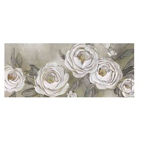 New View Cottage Roses Canvas Wall Art