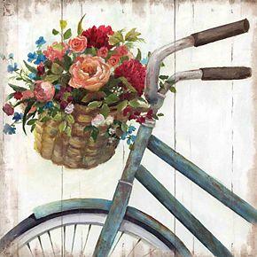 New View Sunday Ride Bike Canvas Wall Art