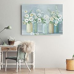 New View Blooming Meadow Beauties Canvas Wall Art