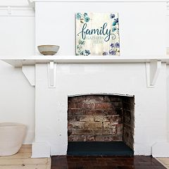 New View 'Family Gathers Here' Canvas Wall Art