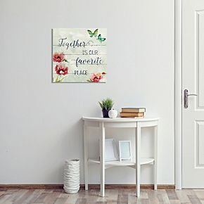 "New View ""Together Is Our Favorite"" Canvas Wall Art"