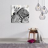 New View Paint Splatter Zebra Canvas Wall Art