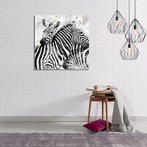 New View Paint Splatter Zebra Canvas Wall Art