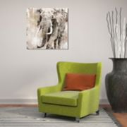 New View Portrait Elephant Canvas Wall Art